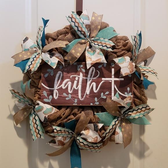 handmade Other - Handmade Burlap Wreath,All season Wreath,Door,Wall